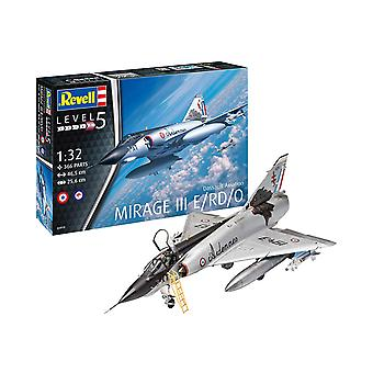 Revell 3919 Dassault Aviation Mirage III E 1:32 Kit modelo plástico em escala