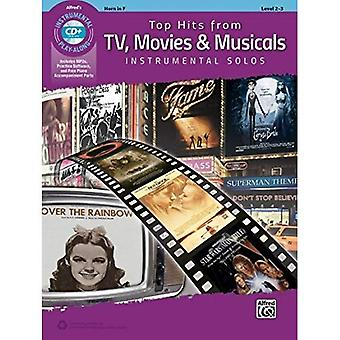 Top Hits aus TV, Filme & Musicals Instrumental Solos: Horn in F (Buch & CD) (Top Hits Instrumental Solos)
