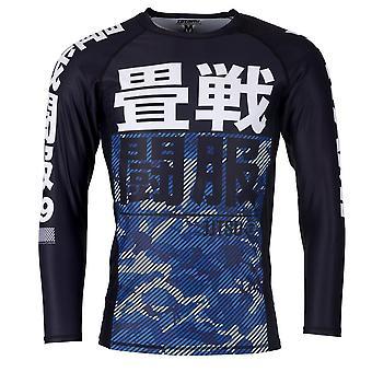 Tatami Fightwear børn væsentlige Camo langærmet udslæt vagt sort/blå