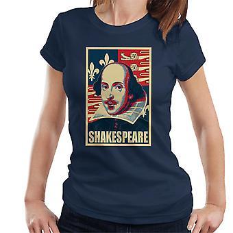 Shakespeare politisk Propaganda popkunst kvinders T-Shirt