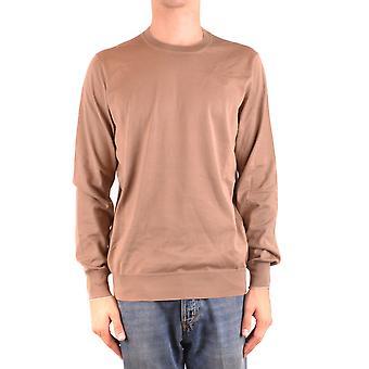 Brunello Cucinelli Ezbc002084 Men's Brown Cotton Sweater
