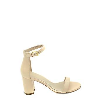 Stuart Weitzman Ezbc158004 Dames's White Leather Sandalen