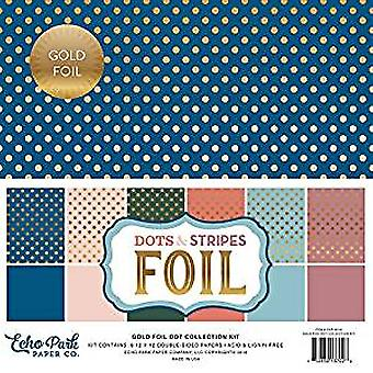 Echo Park Spring Gold Foil Dot 12x12 Inch Collection Kit