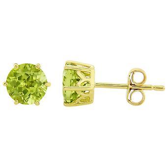 Mark Milton Peridot August Earrings - Green/Yellow Gold