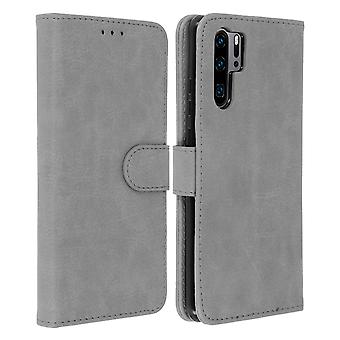 Flip wallet case, magnetic cover with stand for Huawei P30 Pro - Grey