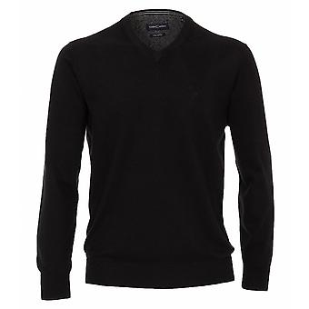 CASA MODA Casa Moda Pima Cotton V Neck Sweater