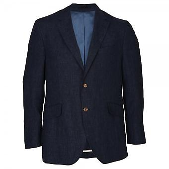 Hackett Delave Linen Jacket, Navy