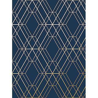 Metro Diamond Geometric Wallpaper