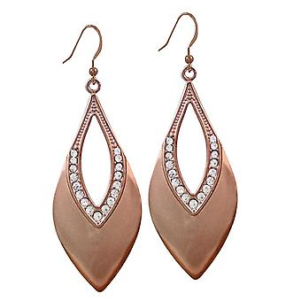 Eternal Collection Highlights Copper & Crystal Drop Pierced Earrings