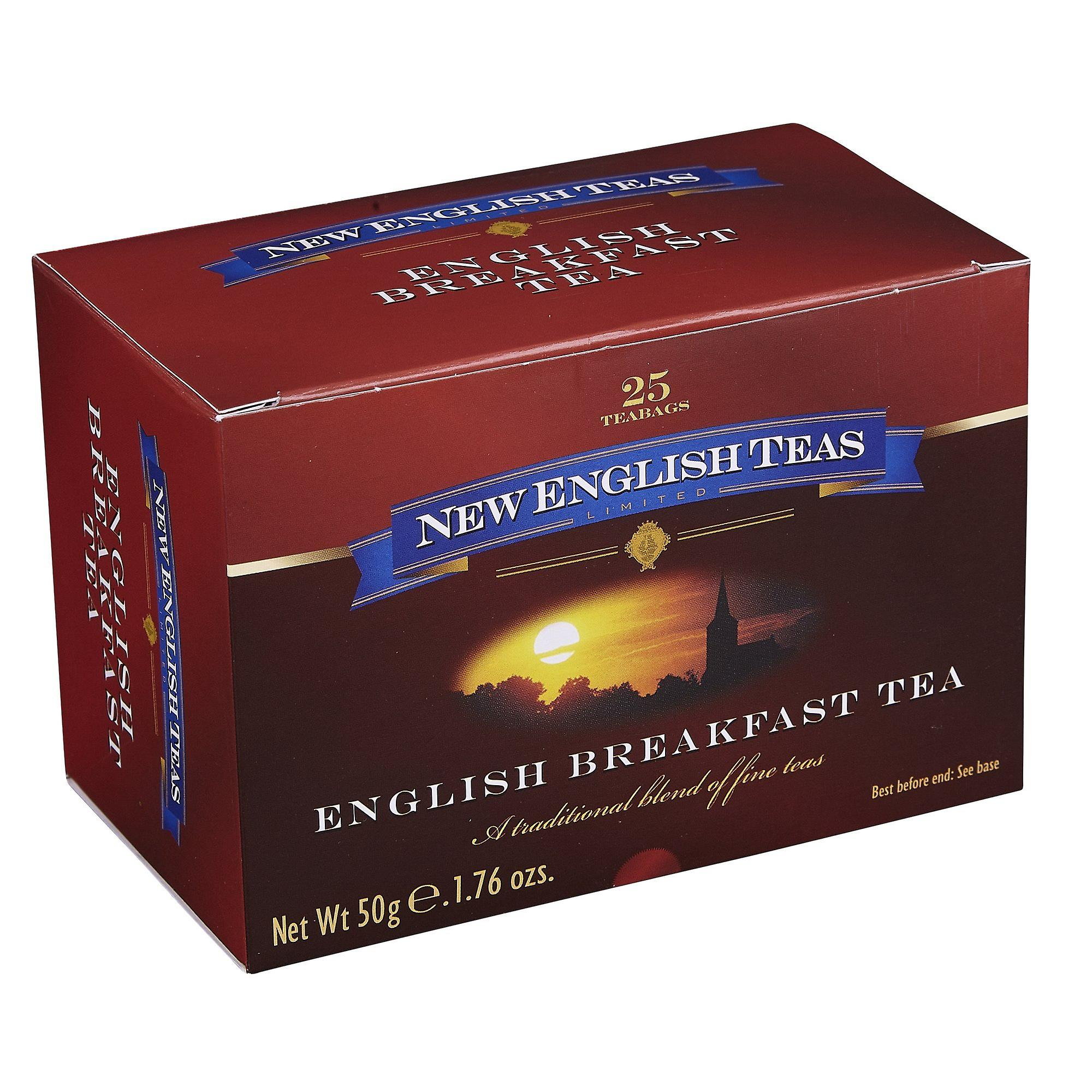 Classic english breakfast tea 25 individually wrapped teabags