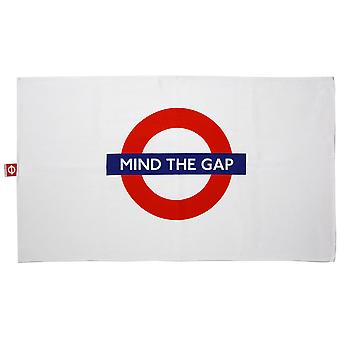 Tfl™6104 licensed mind the gap roundel™ print tea towel