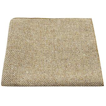 Highland Weave Stonewashed Light Brown Pocket Square, Handkerchief