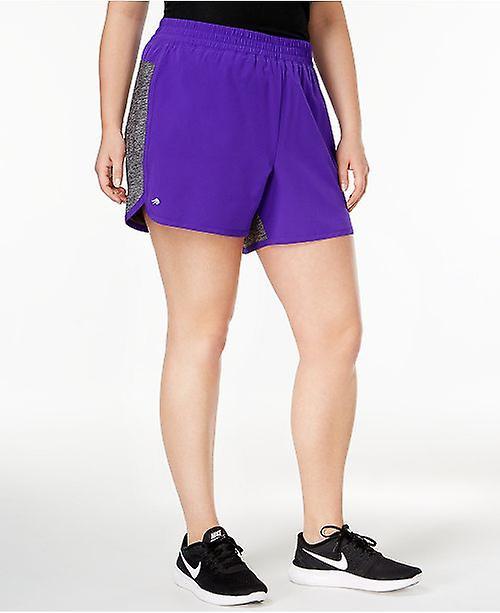 Ideology Plus Shorts Mixed Media 2-in-1 Shorts Purple