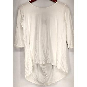 Kate & Mallory top 3/4 mouwen w/Criss Cross terug witte Womens A428883