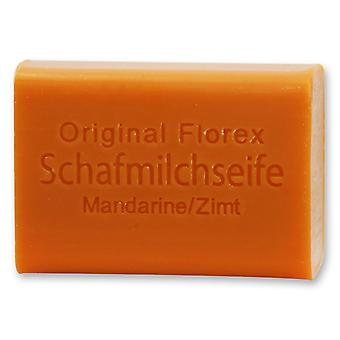 Florex Schafmilchseife - Mandarine Zimt - kühlt die Haut mit heilender Wirkung 100 g