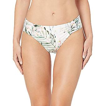 Athena Women's Shirr Side Hipster Swimsuit Bikini Bottom, Painted Nature Mult...
