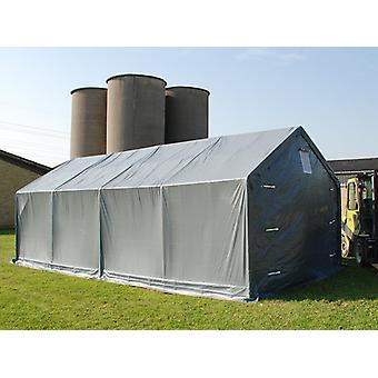Storage shelter PRO 5x8x2.5x3.89 m, PE, Grey