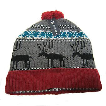 Tom Franks Reindeer Bobble Knitted Beanie Hats GL360