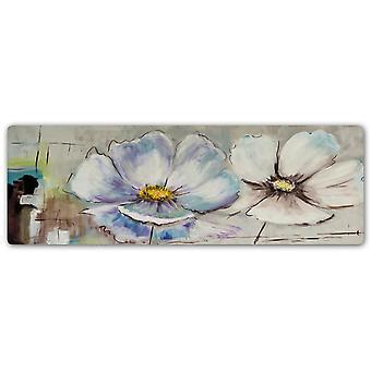 Impresión de metal, Panorama Dos flores blancas