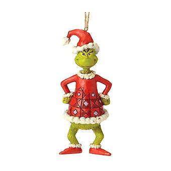 Dr. Seuss Grinch as Santa Hanging Ornament