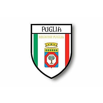 Autocollant Sticker Voiture Moto Blason Ville Drapeau Italie Puglia