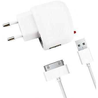 Seyahat Şarj Cihazı 1000 mAh Apple iPad iPad 30 pin konektörü-Beyaz