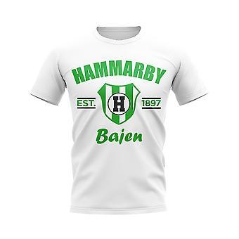 Hammarby etabliert Fußball T-Shirt (weiß)