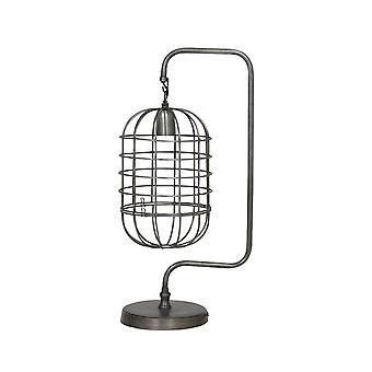 Lys & levende bord lampe 28 x 20 x 59 Cm BRENDA Wire Vintage Tin