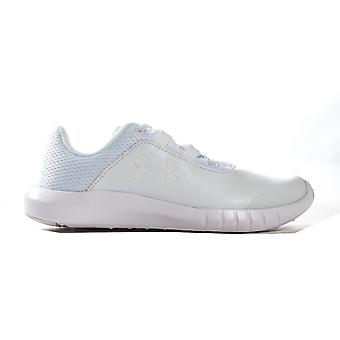 Under Armour Mojo Youth Kids Boys Lace Up Sports Trainer Shoe White