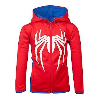 Marvel Comics Spider-Man logo Teq full lengde glidelås hettegenser barn unisex 134/140