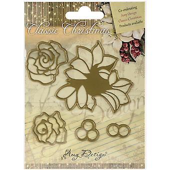 Find It Trading Amy Design Classic Christmas Die-Roses