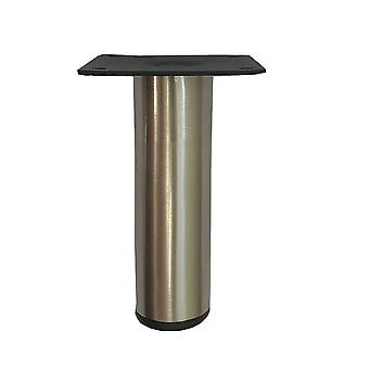 Stainless Steel round furniture leg 10 cm