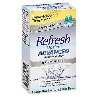 Refresh optive advanced triple-action relief eye drop, 2 x 10 ml