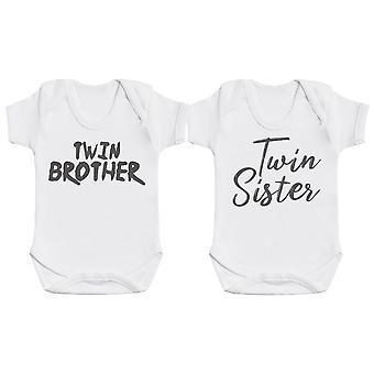 Twin Siblings - Twin Set - Baby Bodysuits
