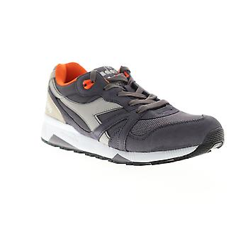 Diadora N9000 III  Mens Gray Suede Lace Up Low Top Sneakers Shoes