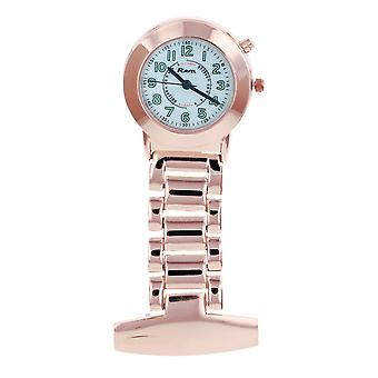 Ravel Unisex Rosegold Tone Professional Nurses Fob Watch With Backlight R1101ELR