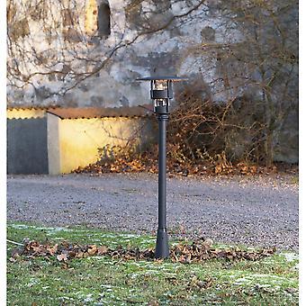 Konstsmide Freja Outdoor modern svart lampa stolpe lykta huvud