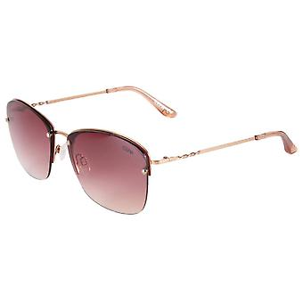 Suuna Modern Square Rimless Sunglasses - Gold