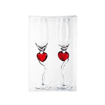 Out Of The Blue Valentines Champagne Glasses (Set of 2)