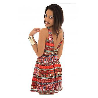 Starlett Aztec Backless Dress
