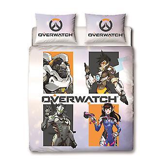 Overwatch Grid Doppel Bettbezug Set
