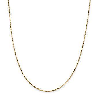 14k 1.4mm Solid Polished Cable Chain enkelband sieraden geschenken voor vrouwen - Lengte: 9 tot 10