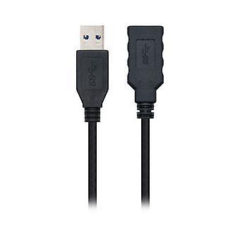 USB-kaapeli NANOCABLE 10.01.090 Musta/1 m