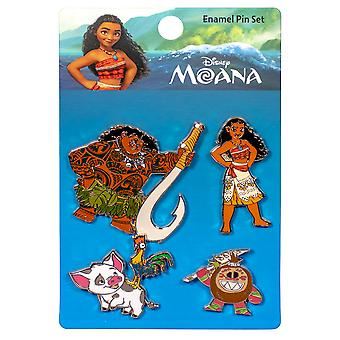 Moana Emaille Pin 4pk