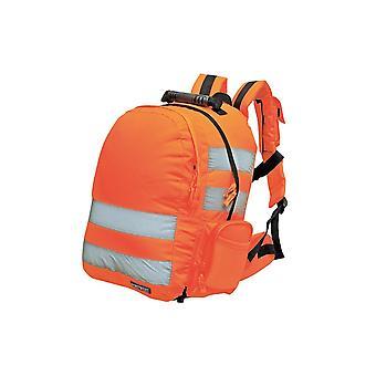 Portwest quick release hi-vis rucksack b904