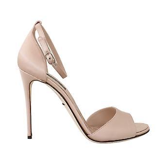 Dolce & Gabbana Rosa Silk Stiletto Klackar Sandaler