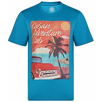 KAM Kam Cuban Theme Printed T-Shirt