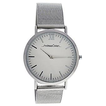 Andreas osten Quartz Analog Woman Watch with AO-131 Stainless Steel Bracelet