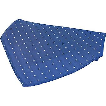 David Van Hagen Pin Dots Silk Pocket Square - Blue/White