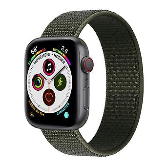 Apple Watch 5 (44mm) Nylon Armbånd - Militær Khaki